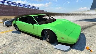 BeamNG Drive Alpha DSC Rocket Car Bolide Crash Testing #43 HD