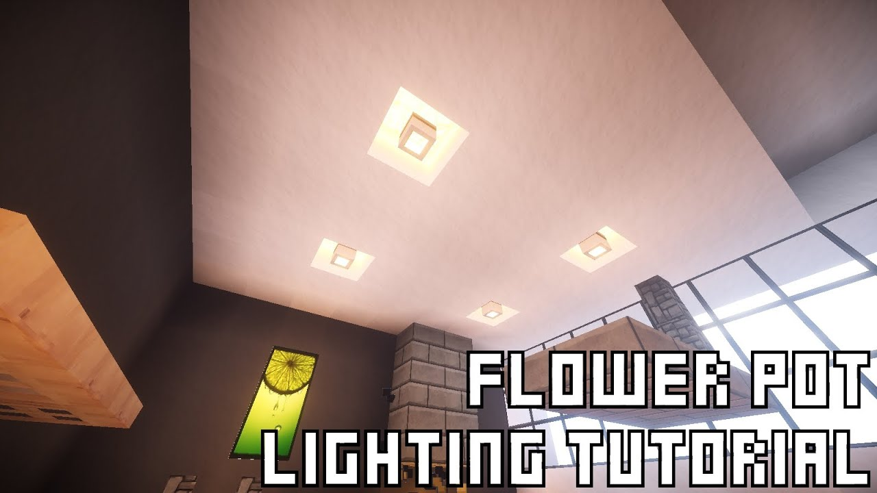 Tutorials Lighting MinecraftModern House Design Pot Flower qAL53R4j