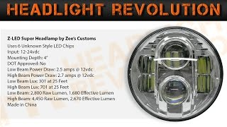 generic chinese fake jw speaker 8700 demo and review 7 inch round led headlight shootout 3 of 12