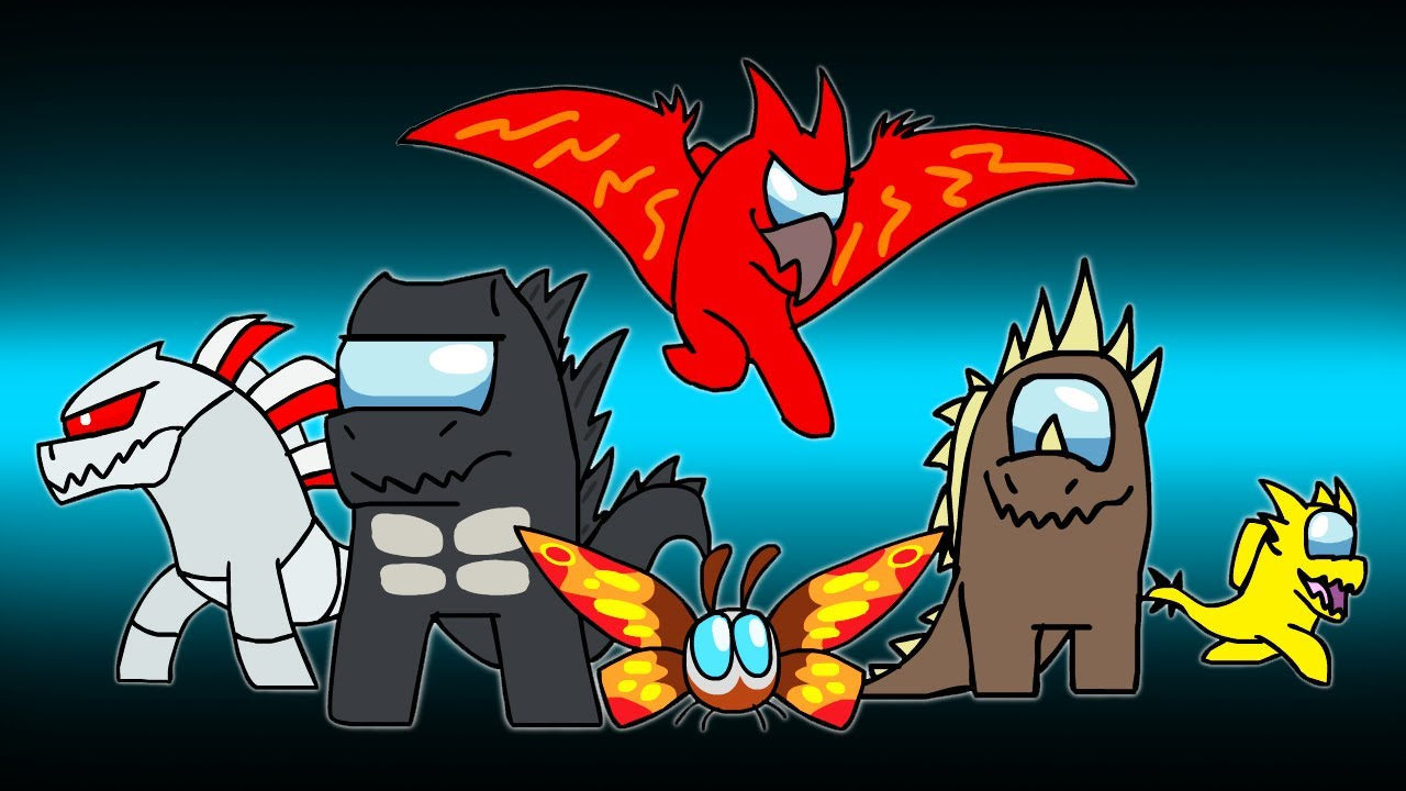 Download AMONG KAIJU | Godzilla in Among Us | DinoMania - animated cartoon movie