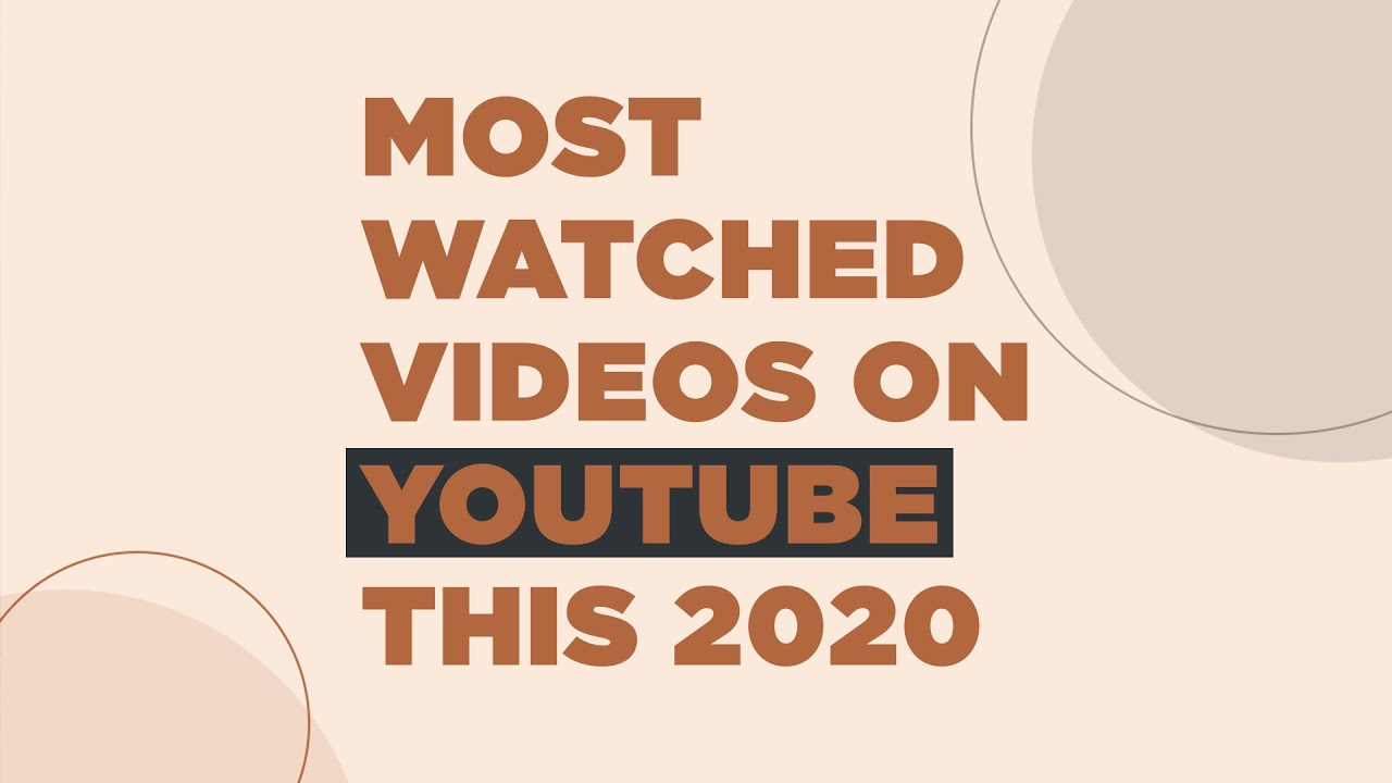 Most Watched Youtube Videos This 2020 Youtube