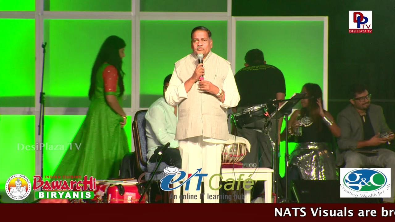 Deputy Speaker of Andhra Pradesh Mandali buddha Prasad  Speaking@ NATS Conference