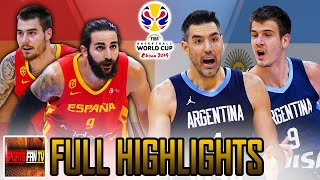 "SPAIN vs ARGENTINA ""FULL HIGHLIGHTS"" AUG 27,2019 FIBA WC GAME PREPARATION"