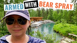 RVing the ALASKA Highway to Liard River HOT Springs - HOT HOT!
