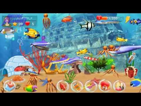 Best childhood game insaniquarium best fish game ever for Live fish games