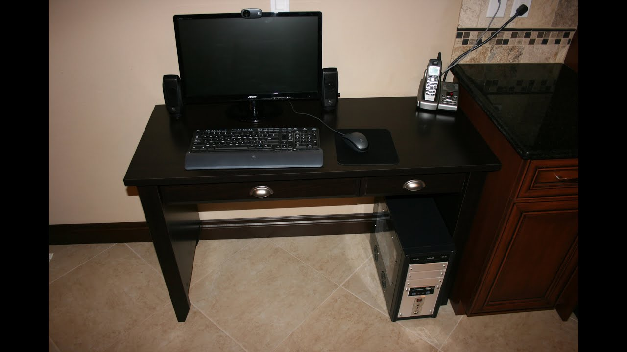 Sauder Shoal Creek Collection Computer Desk With Jamocha Wood Finish Overview