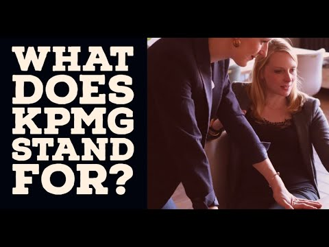 What does KPMG stand for?