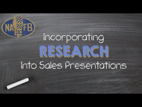 NAFB Webinar: Incorporating Research Into Your Sales Presentation