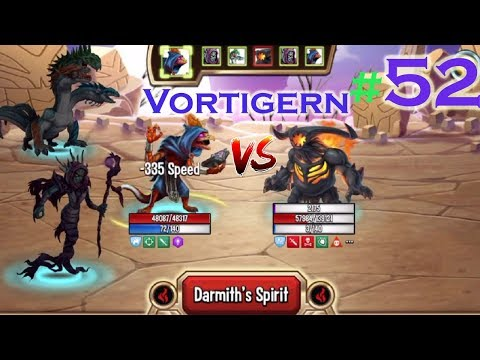 Monster Legends - Team wars #52 Vortigern review combat Xiron Learnean nishant vs faraday