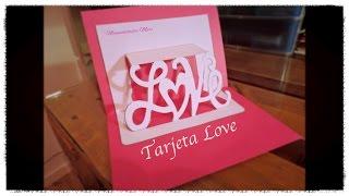 kirigami tarjeta love para regalo de san valentin pop up