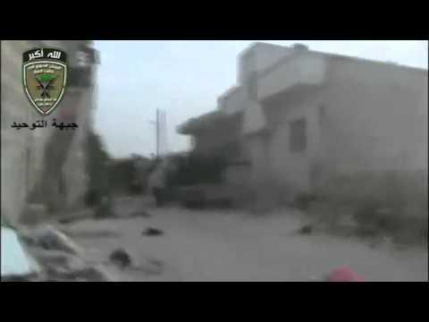 Suriye Humus Rastan bölgesinden çatışma görüntüleri
