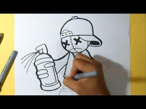 Dessin Bombe Aerosol Graffiti Par Zaxx Doovi