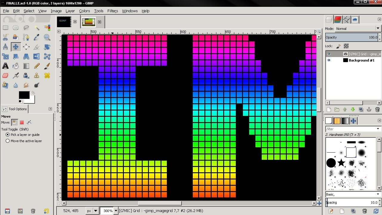 Grid Text Effect 1 - GIMP 2 8 Tutorial