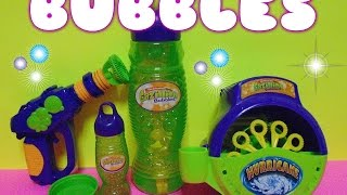 Gazillion BUBBLES Hurricane Bubble machine and Bubble GUN toy review SHOW-AND-TELL