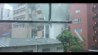 台風15号 トタン屋根が吹き飛ぶ