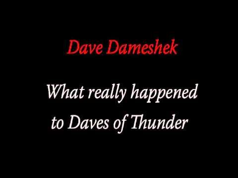 Dameshek on the Cancelation of Daves of Thunder