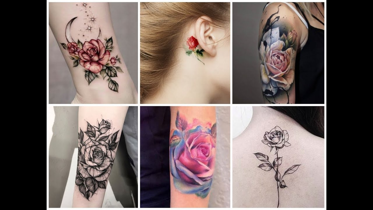50 Beautiful Rose Flowers Tattoo Design Ideas