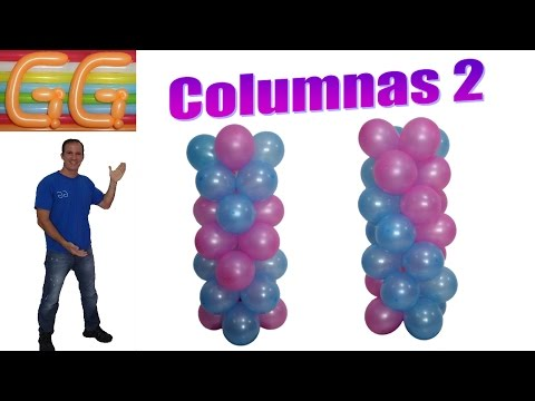 how to make balloon column without stand - balloon columns
