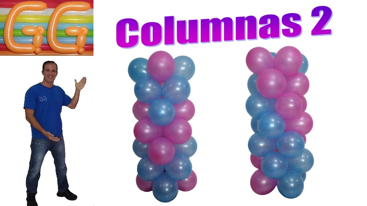 how to make balloon column without stand balloon columns youtube. Black Bedroom Furniture Sets. Home Design Ideas