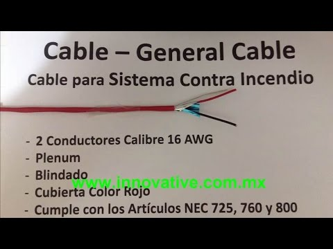 Cable para sistema contra incendio plenum thumbnail