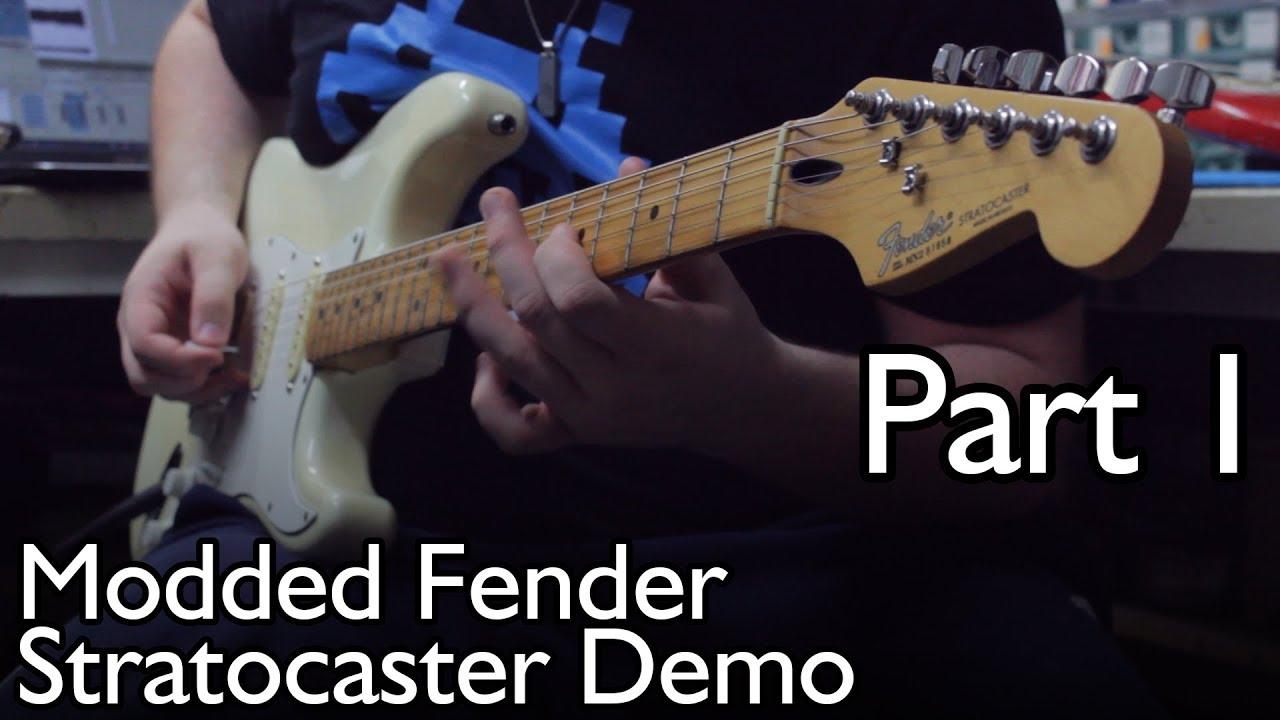 fender stratocaster ec mid boost tbx tone control demo part 1 clean  [ 1280 x 720 Pixel ]