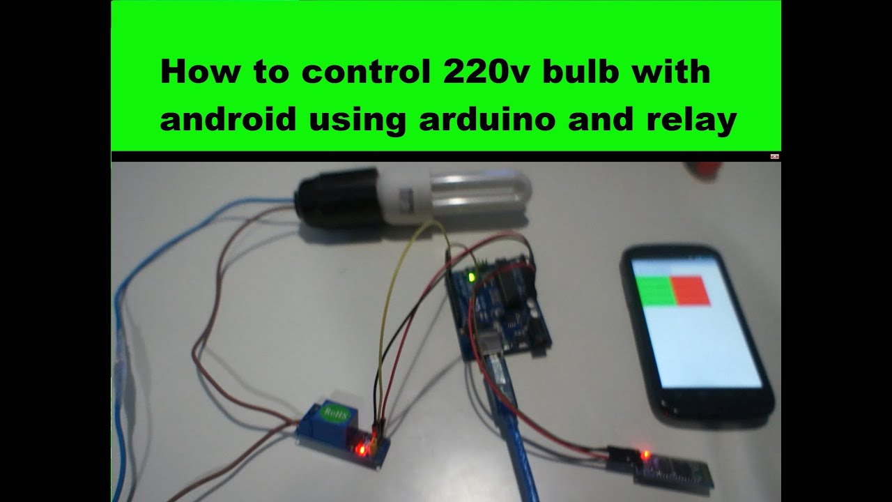 How to control v bulb with android using arduino and