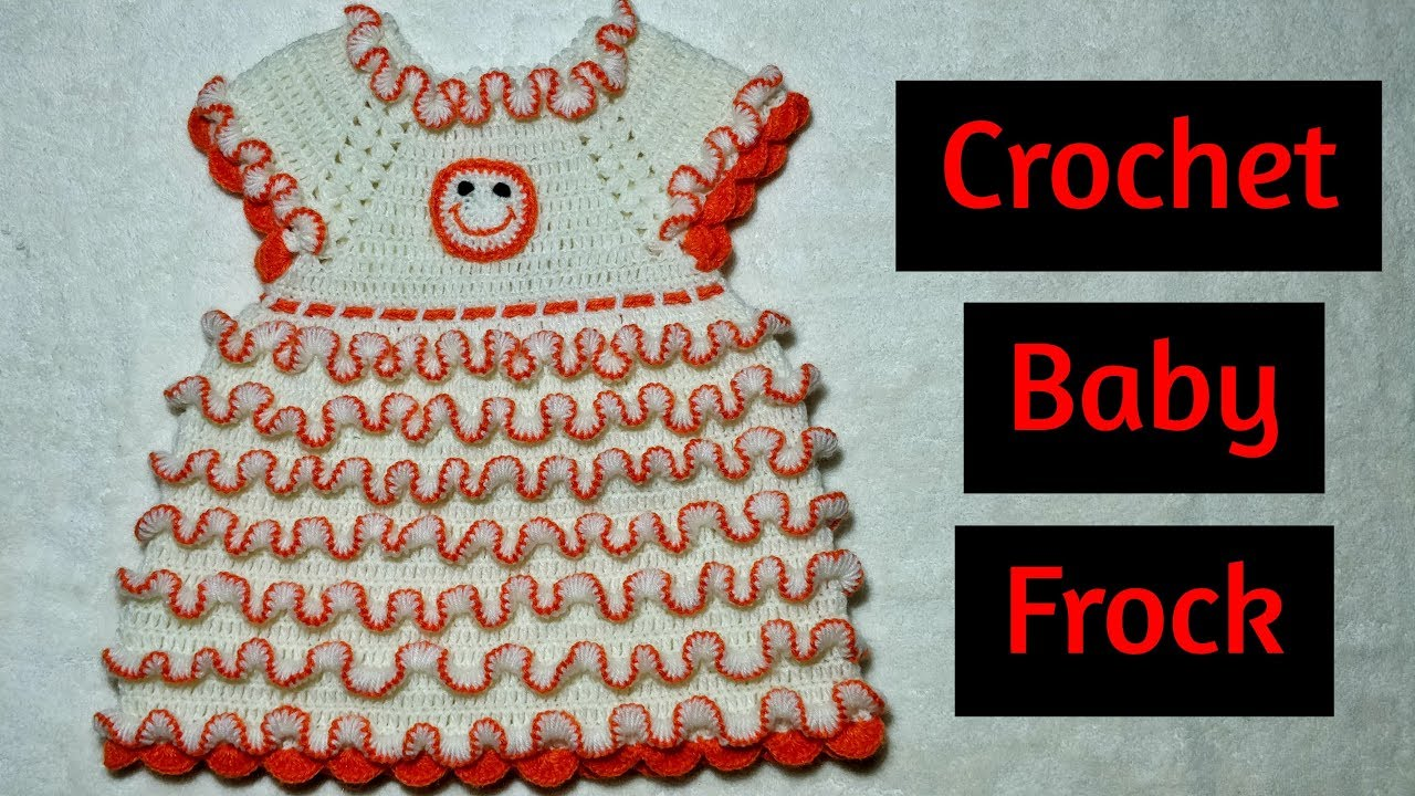 9a87349eb1af Crochet Baby Frill Frock (0-3 years) - YouTube
