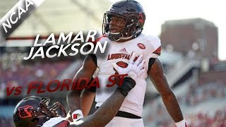 Lamar Jackson Highlights vs Florida State // 13/21 334 Total Yards, 2 TDs // 10.21.17