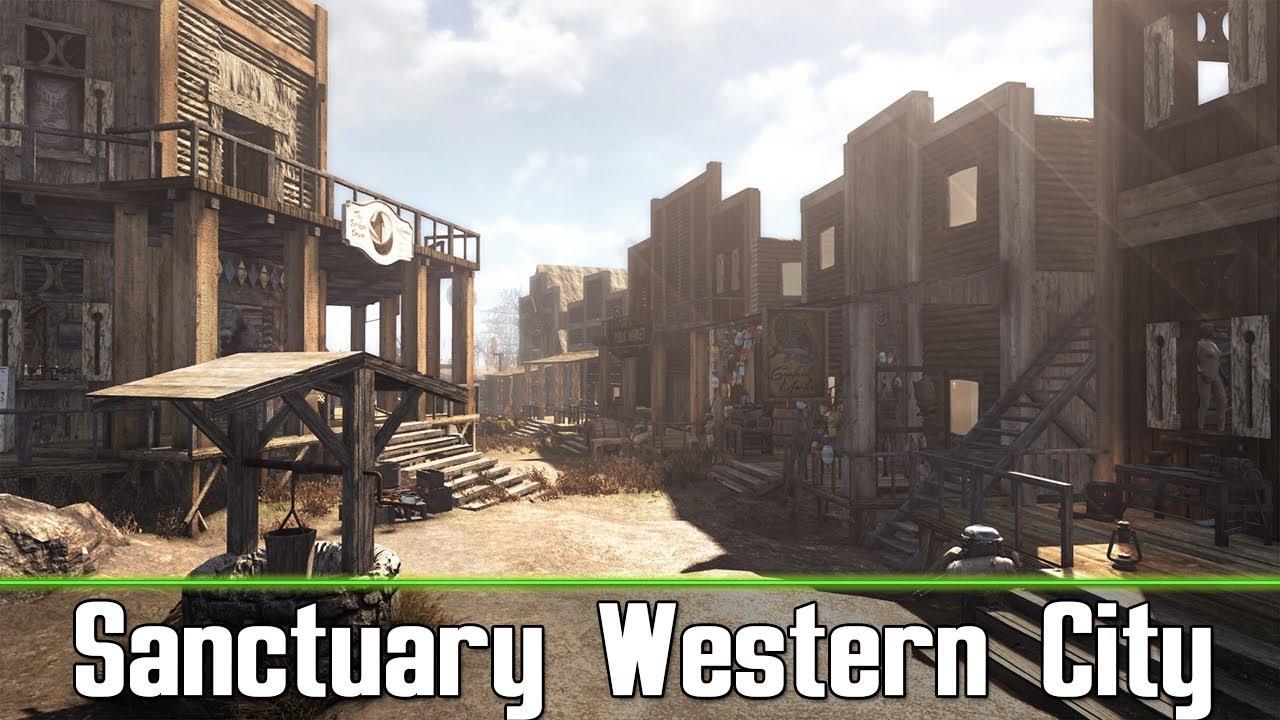 Fallout 4 amazing sanctuary western city settlement fallout 4 amazing sanctuary western city settlement photorealistic tour malvernweather Choice Image
