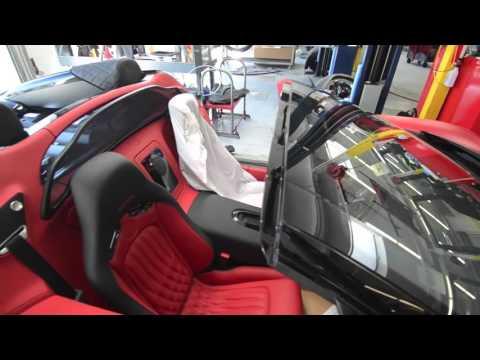 Taking off a Bugatti roof