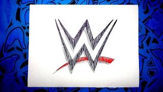 Dibuja el escudo oficial de la WWE Lucha Libre