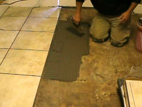 Ceramic tile flooring installation training by b h tile for Ceramic floor installation