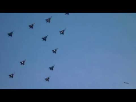 Swedish Air Force Jas 39 Gripen Christmas formation