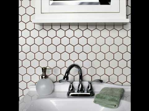 Hexagon White Matte Porcelain Mosaic Tile Direct