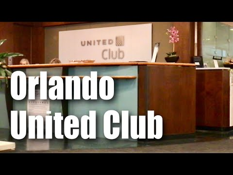 The United Club Lounge in the Orlando International Airport