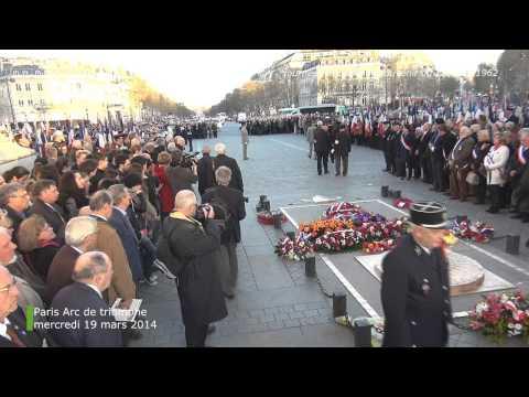 Paris, Arc de triomphe, mercredi 19 mars 2014, Journée nationale du souvenir et du 19 mars 1962