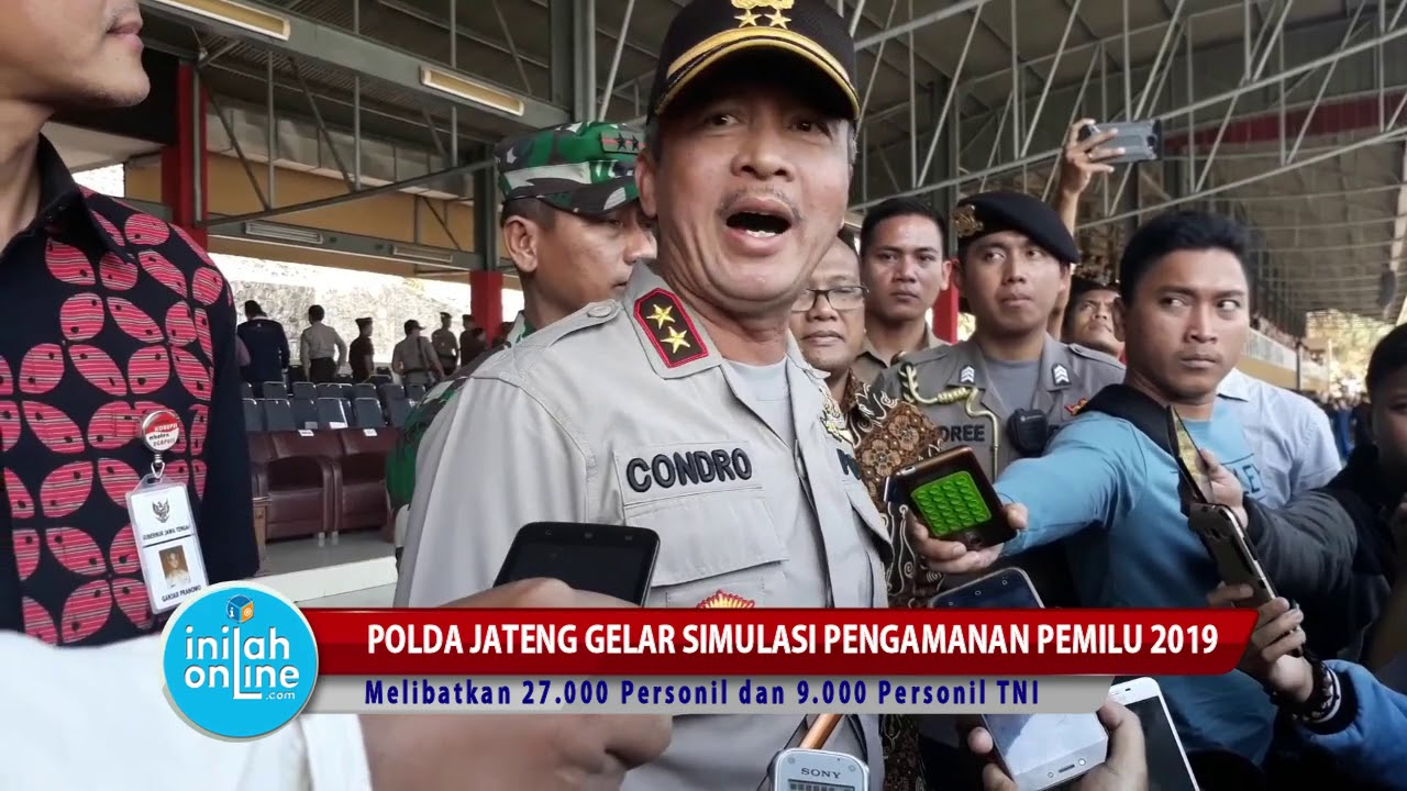 Polda Jateng Gelar Simulasi Pengamanan Pemilu 2019
