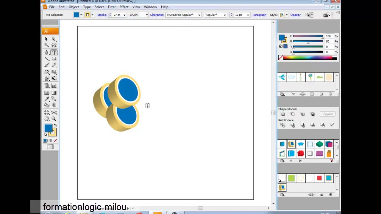 Adobe illustrator cs3 tutorial in urdu-hindi part 4. Make simple.