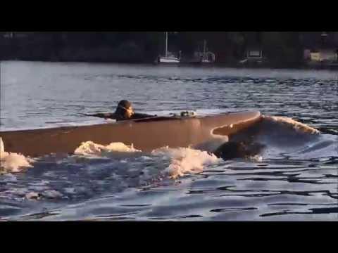Testing a mini-submarine in the Swedish archipelago