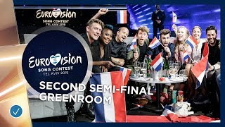 Party in the greenroom during the second Semi-Final - Eurovision 2019