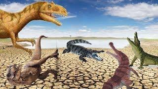БОРЬБА ЗА ВЫЖИВАНИЕ!!! Засуха в Долине Динозавров!!! САРКОЗУХИ против ДИНОЗАВРОВ