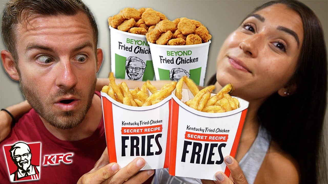 """We Ate The NEW KFC """"Secret Fries"""" & Beyond Chicken Nuggets!"""