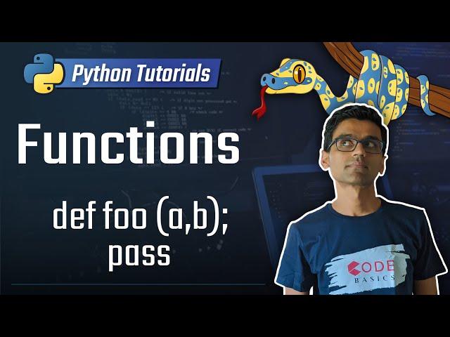 10. Functions [Python 3 Programming Tutorials]