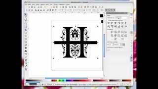 Inkscape Splitting Monograms
