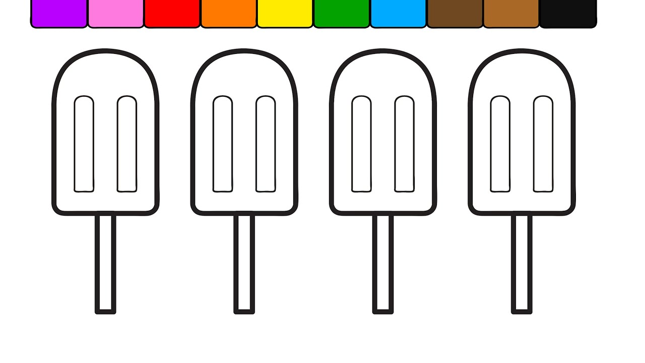 Learn Colors for Kids with this Ice Cream Popsicle ...