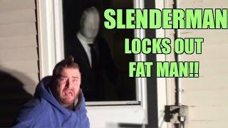 slenderman steals fat mans house big splash through a table backyard wrestling match