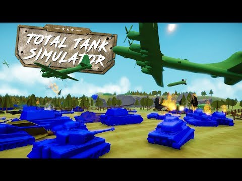 HUGE B-29 BOMBER PLANE DROPS NUCLEAR BOMB ON TANK BATTLE! - Total Tank Simulator Demo 4 Gameplay