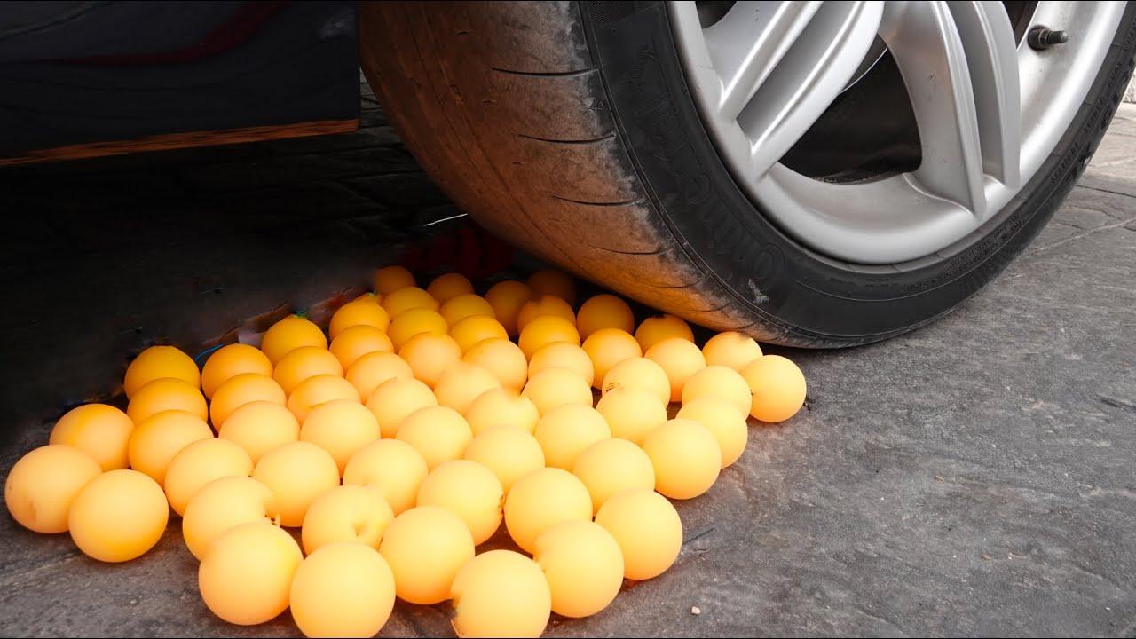 Crunchy & Soft Things by Car! EXPERIMENT: CAR VS EGGS 3