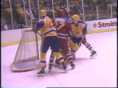 1985 Los-Angeles Kings (USA) - CSKA (Moscow, USSR) 2-5 Friendly hockey match (Super Series)