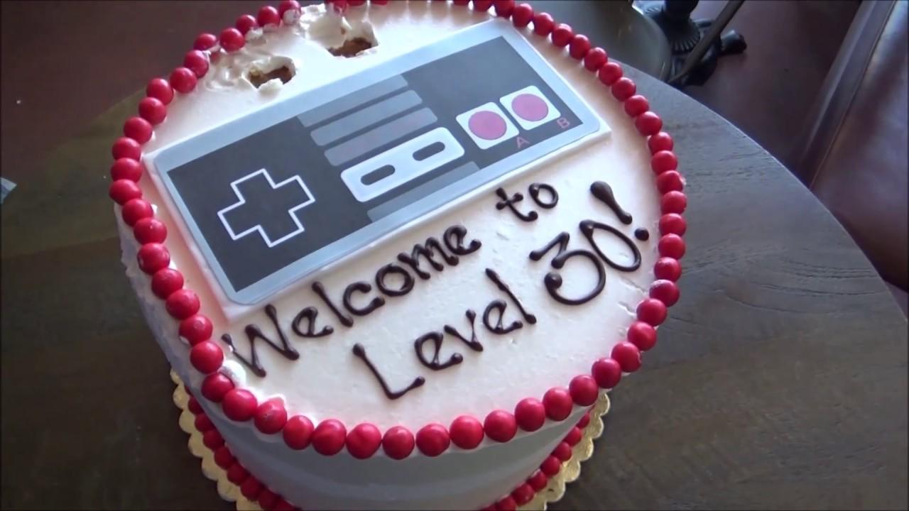 Happy 30th Birthday Cutting Cake YouTube